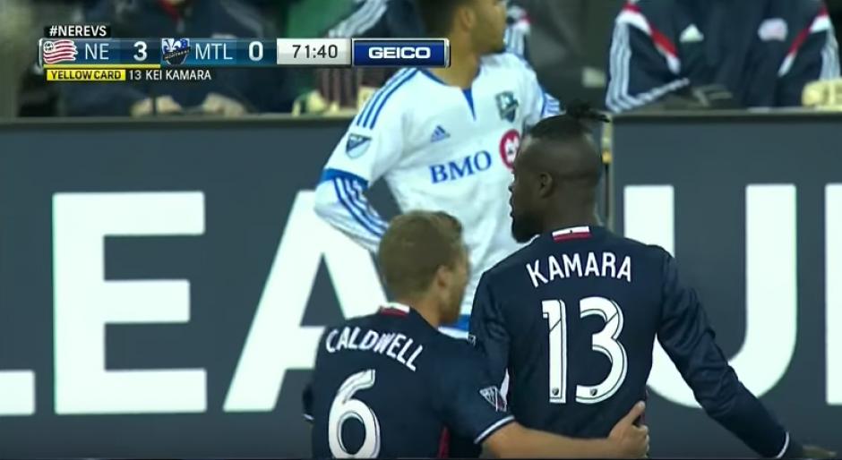El delantero se enfadó muchísimo con el árbitro. (Imagen: captura de pantalla)
