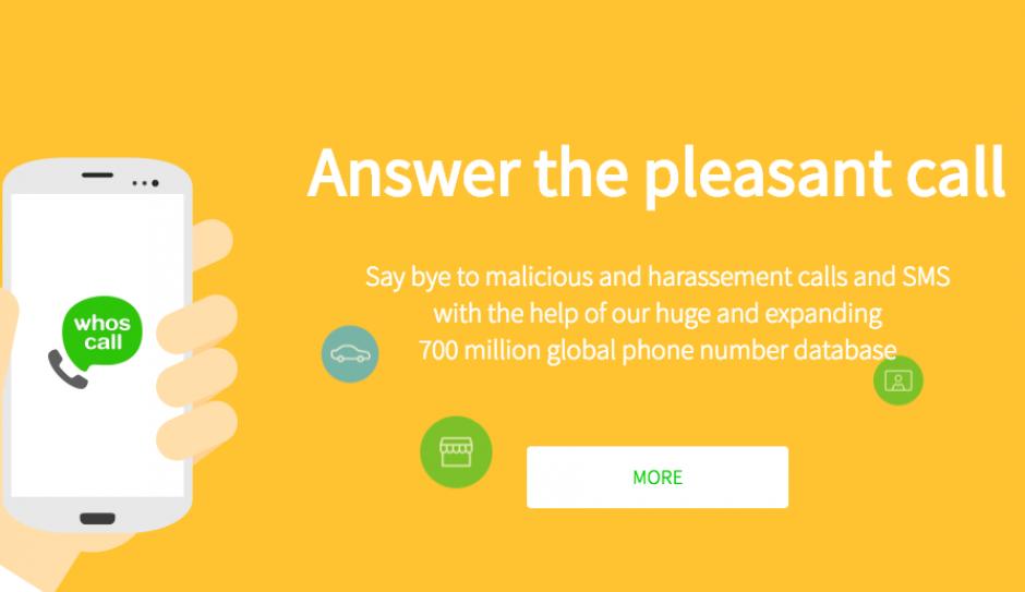 Whoscall tiene alrededor de 6 millones de números de teléfono en su base de datos