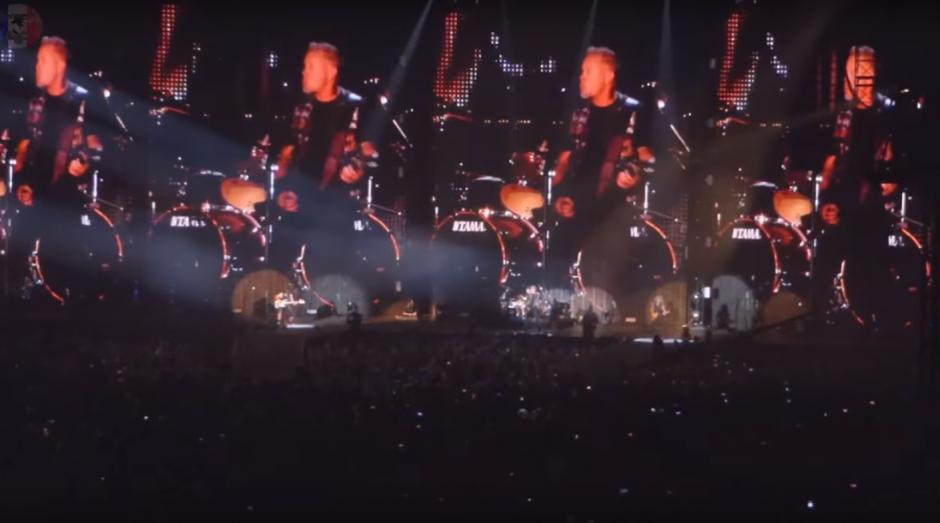 Este es el escenario utilizado por Metallica durante un concierto en Minneapolis el pasado 20 de agosto. (Foto: captura de YouTube)