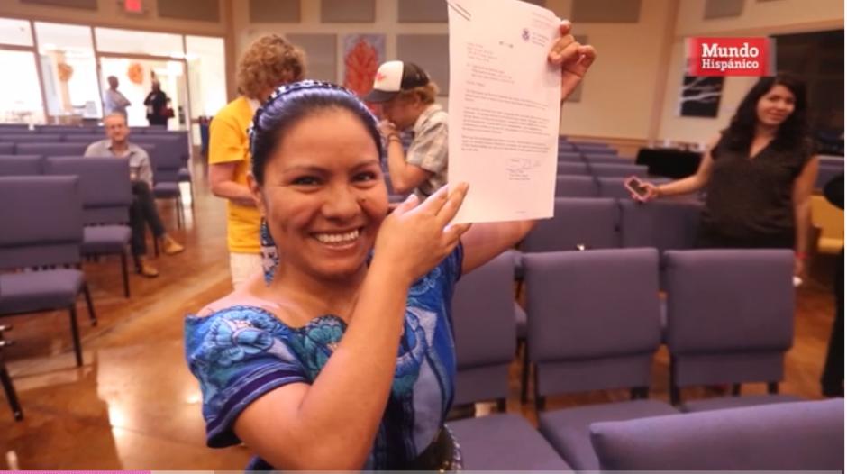 Hilda salió de Guatemala para evitar la violencia doméstica de la que era víctima. (Imagen: captura de video)