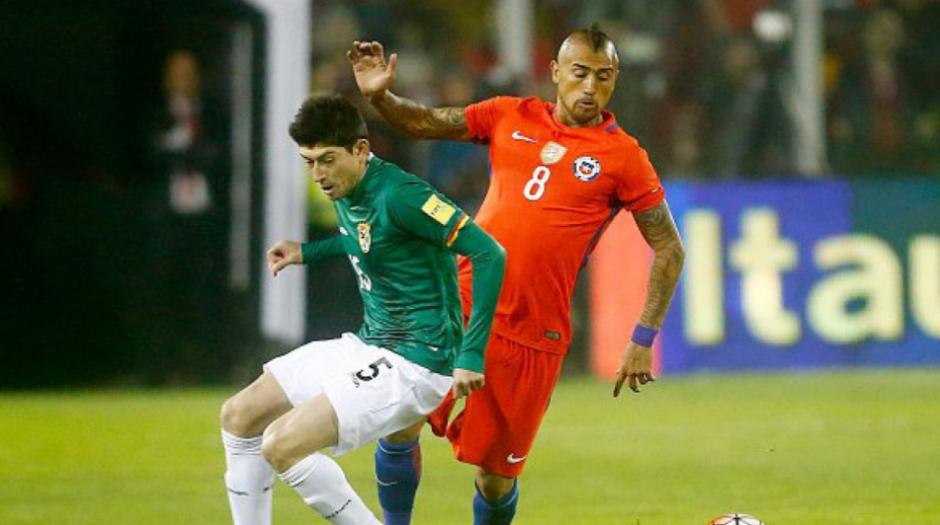 Nelson Cabrera, el boliviano que no debió jugar ante Chile. (Foto: Twitter)