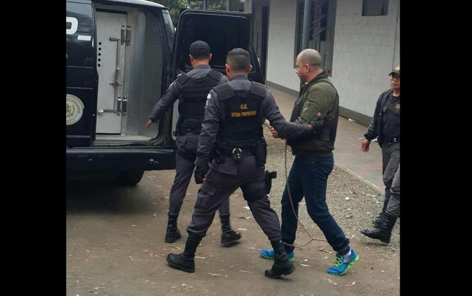 """Marlon Monroy """"El Fantasma"""" fue trasladado desde Mariscal Zavala a la Fuerza Aérea. (Foto: Sistema Penitenciario)"""