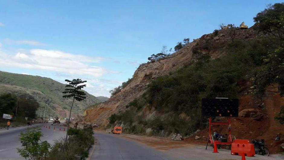 Se confirmó que afecta el kilómetro 50 de esa ruta. (Foto: Tránsito PNC)