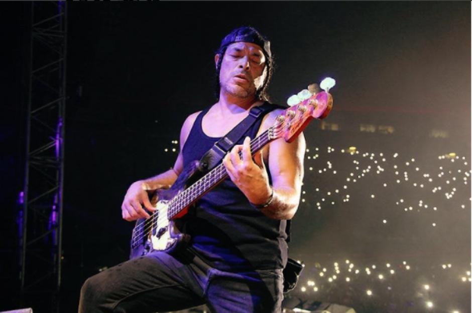 Robert Trujillo dio todo en el escenario como lo demuestra la foto en las redes sociales de la banda. (Foto: Instagram Metallica)