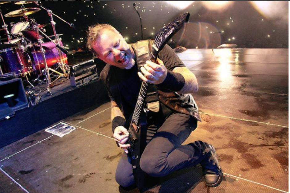 James Hetfield no dejó escapar su admiración por el público roquero de Guatemala. (Foto: Instagram Metallica)