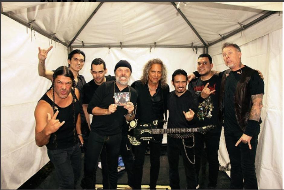 Metallica compartió una foto antes de subir al escenario junto con Metal Réquiem. (Foto: Instagram Metallica)