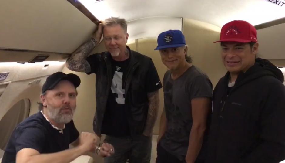 Los integrantes de Metallica enviaron un saludo tras finalizar su gira por Latinoamérica