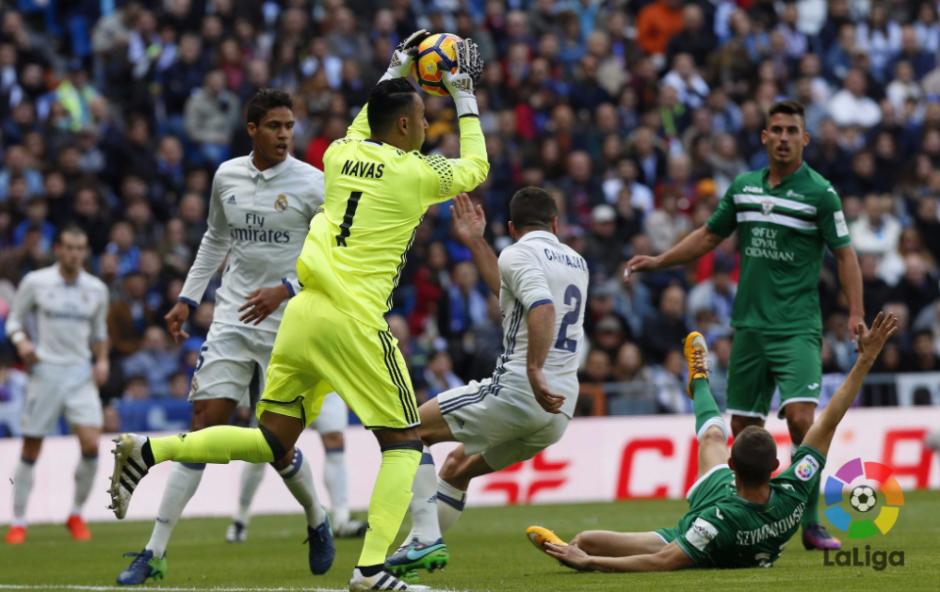 El costarricense mantuvo su portería a cero contra el Leganés. (Foto: La Liga)