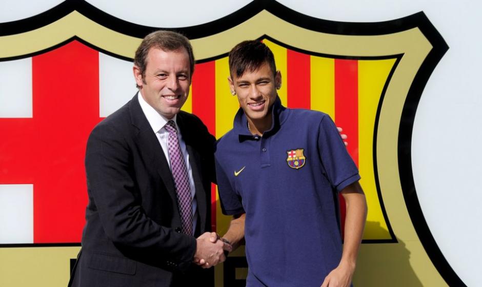 Sandro Rosell fichó a Ney pero después tuvo que dejar el cargo. (Foto: Sport.es)