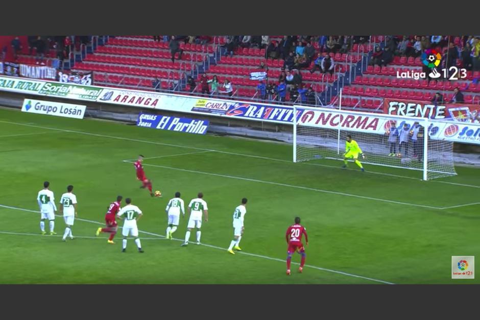 El Numancia perdió los 3 puntos tras un desastroso penal. (Imagen: captura de pantalla)