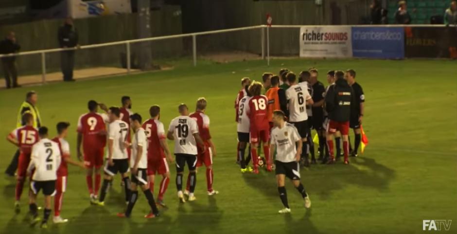 El partido se repetirá, ya que en la FA Cup no hay penales. (Imagen: captura de pantalla)