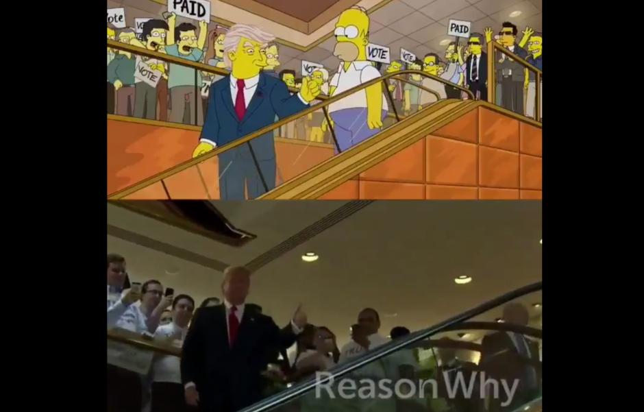 En un video se muestra el comparativo del ingreso de Trump. (Foto: Twitter)