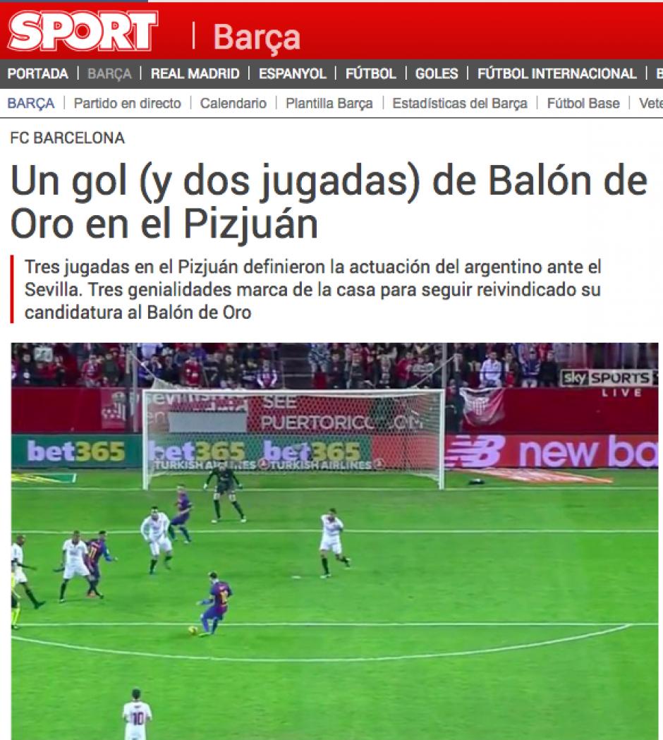 Los medios catalanes impusan la lucha entre Messi y CR7 por The Best y Balón de Oro. (Foto: Sport)