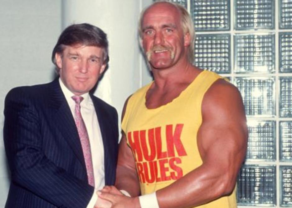 Hulk Hogan, con Trump en los 90. (Foto: Twitter)