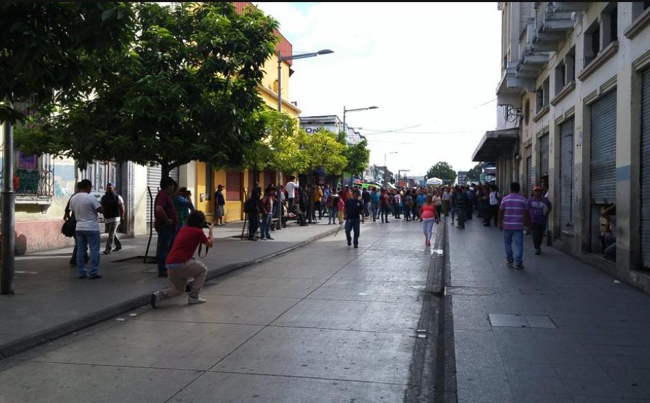 La Policía Nacional Civil (PNC) intervino momentos después. (Foto: José Miguel Castañeda)