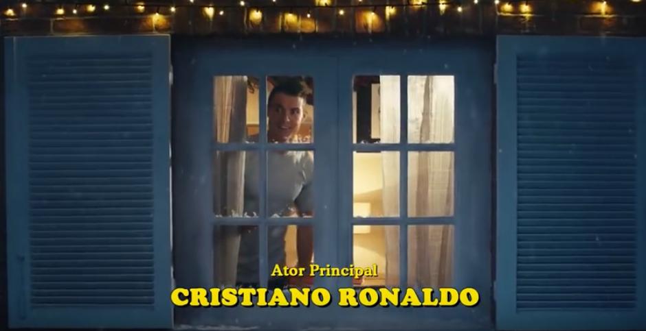 """Cristiano, el """"actor principal"""" de este comercial. (Captura de Pantalla)"""