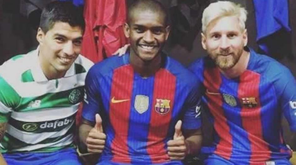 Marlon, con Messi y Suárez. (Foto: Sport)