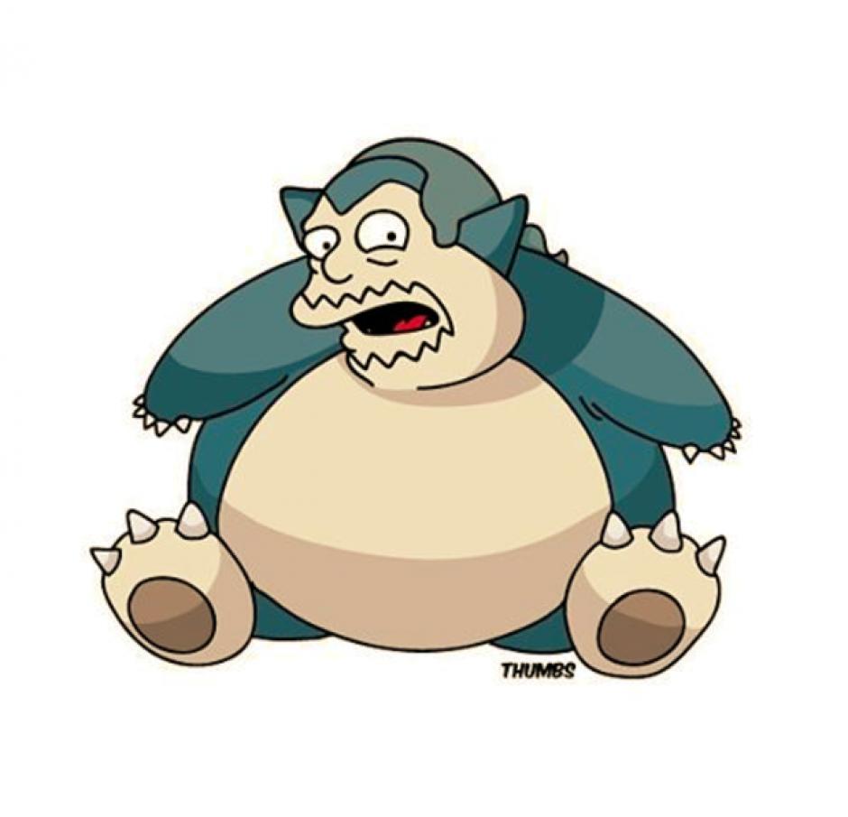 El hombre de la tienda de cómics se combina con Snorlax.(Foto: Instagram Thumbs)