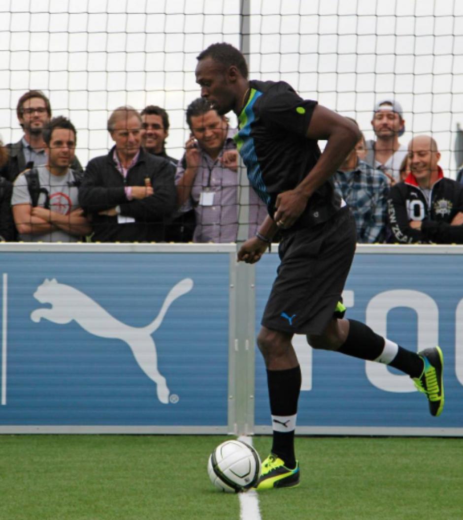 Bolt, durante una actividad organizada por Puma. (Foto: Puma)