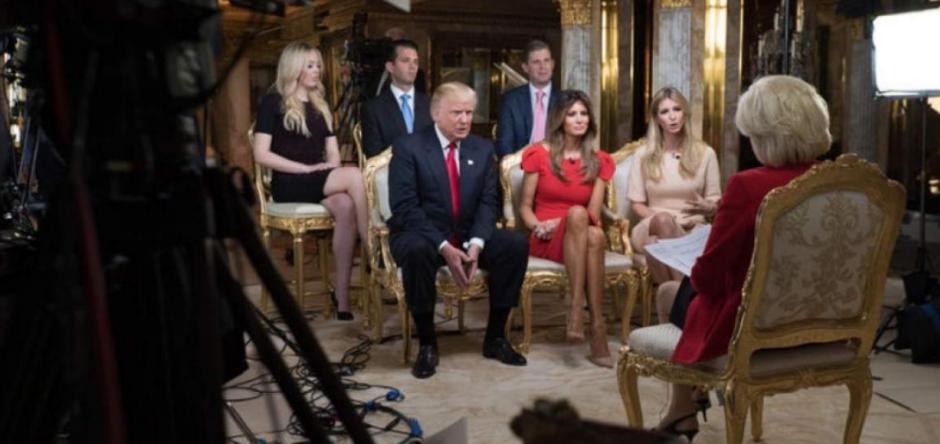Así fue el set de la entrevista a Donald Trump. (Foto: Univisión)