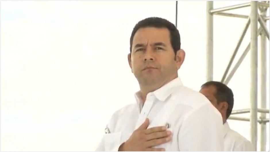 El presidente Jimmy Morales anunció la creación de una fuerza entre El Salvador y Honduras. (Imagen: captura de pantalla)