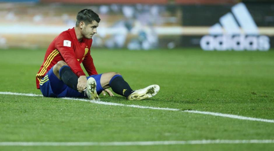 Morata se rompió un músculo jugando con España. (Foto: AFP)