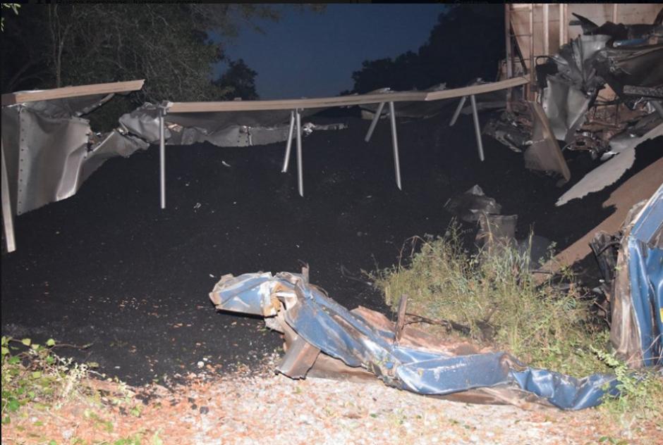 Se desconoce el por qué chocaron de frente las dos naves. (Foto: Marion County Fire Rescue)