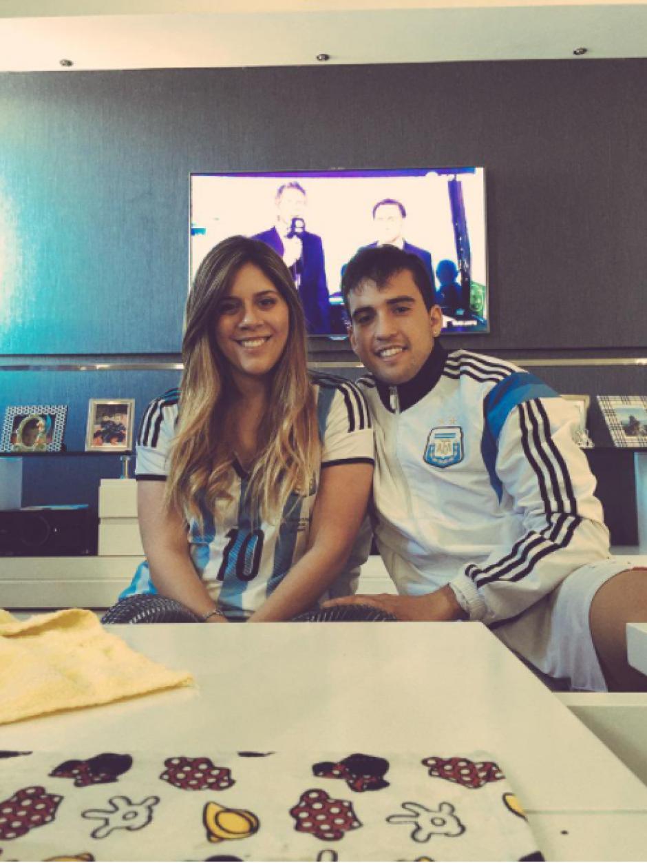 María Sol Messi con su pareja. (Foto: Twitter)