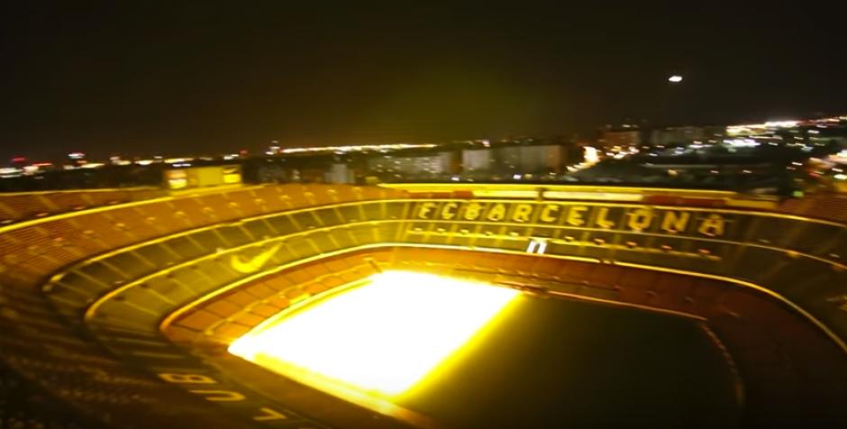 La panorámica desde la última grada del Camp Nou. (Imagen: captura de pantalla)