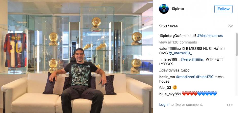 Pinto mantiene una estrecha relación con Leo Messi. (Foto: Instagram)