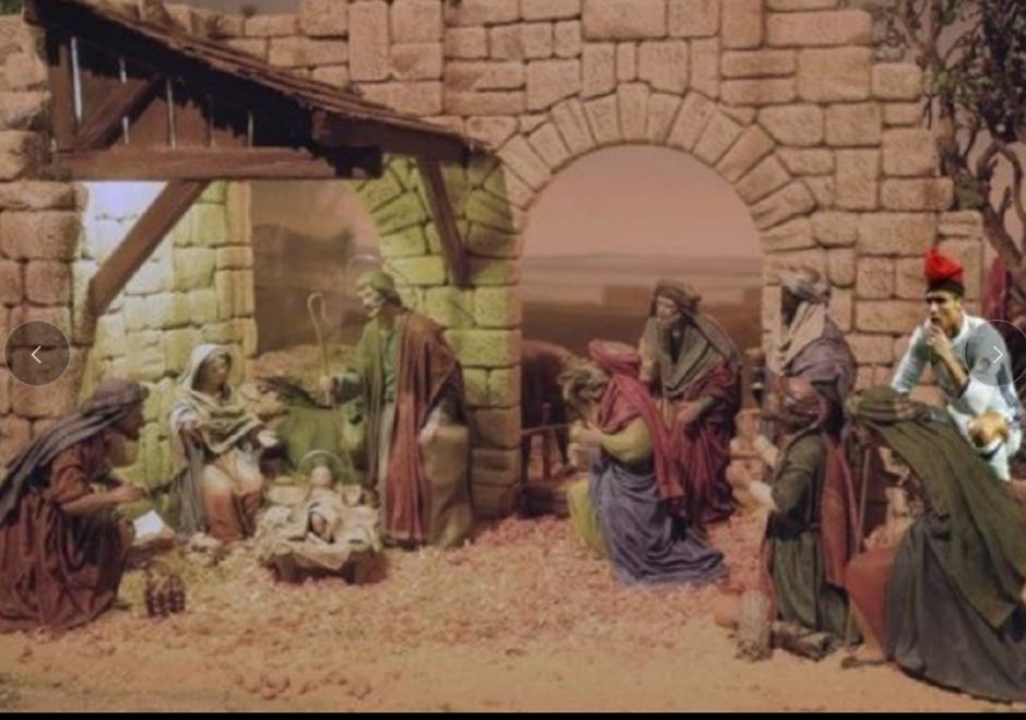 Hasta en el nacimiento de Jesús hubo meme con CR7. (Foto: Twitter)