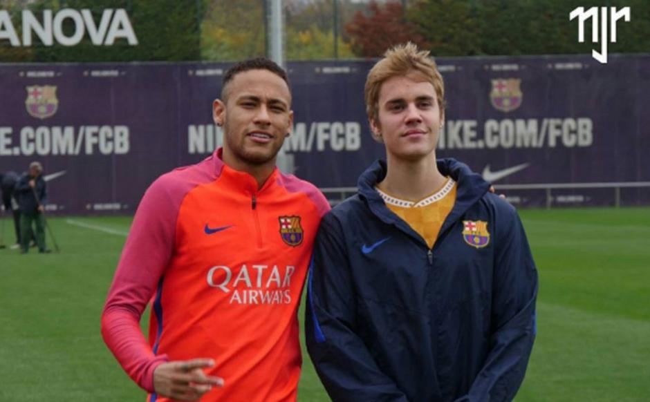 Justin se puso las botas y salió a jugar. (Foto: FC Barcelona)