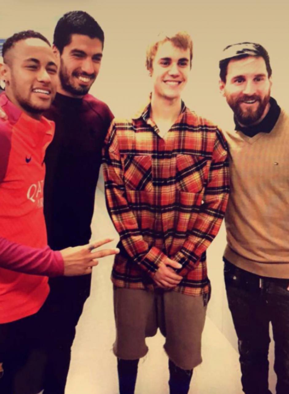 Bieber está de gira por España. (Foto: FC Barcelona)