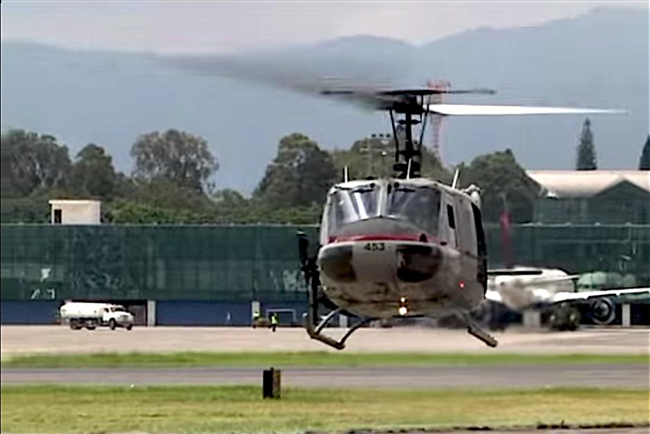 Actualmente solamente hay cinco helicópteros operando, uno de ellos se estrelló este año. (Foto: Gobierno de Guatemala)