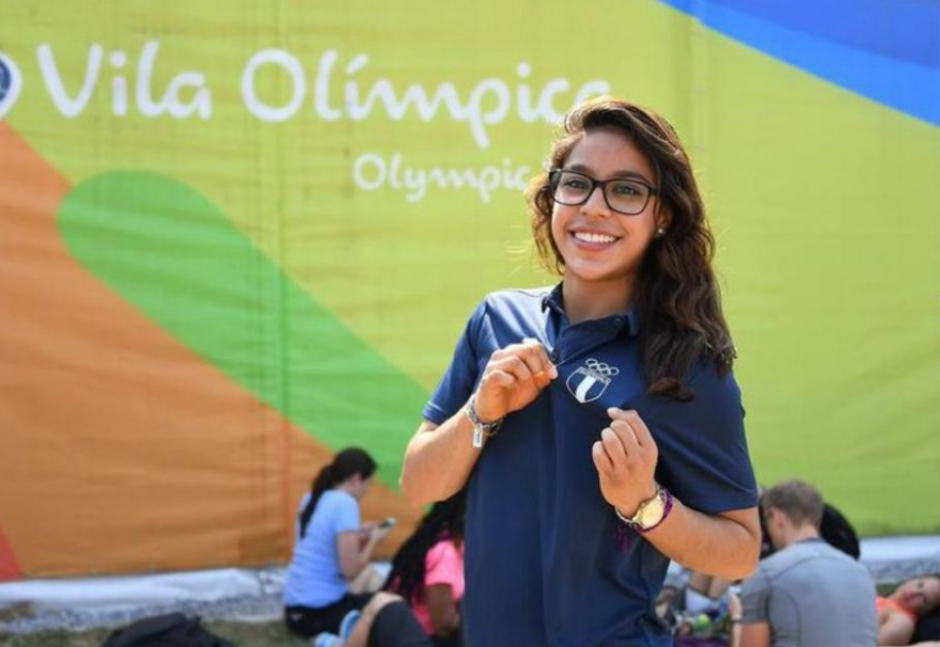 Ana Sofía, en la Villa Olímpica de Río. (Foto: Archivo/Soy502)