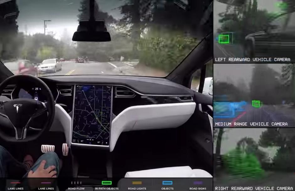 Tesla grabó un recorrido del automóvil que se conduce solo