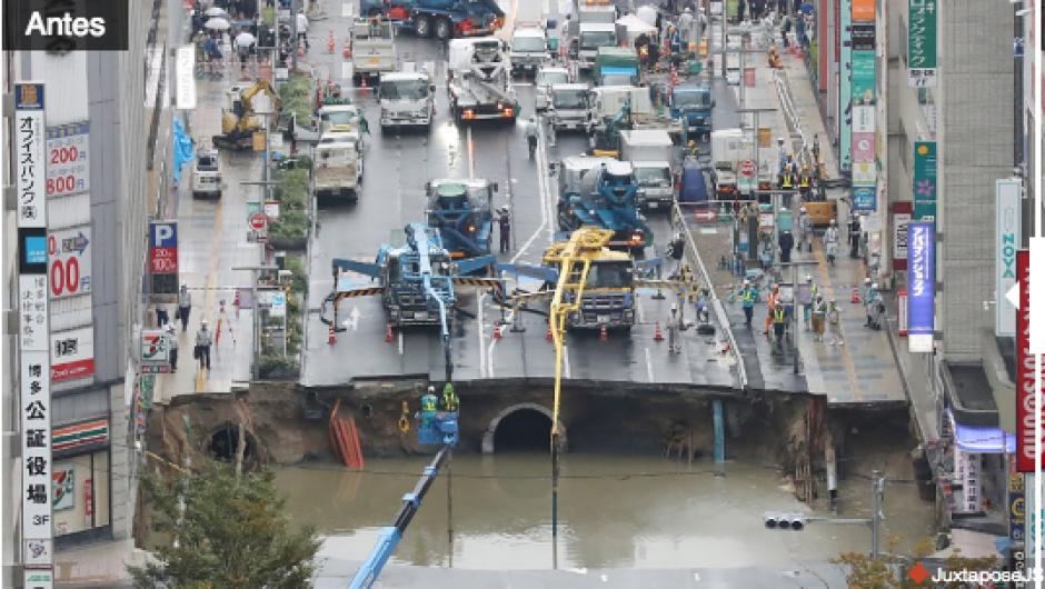 El agujero había sido reparado en menos de una semana. (Foto: CNN)