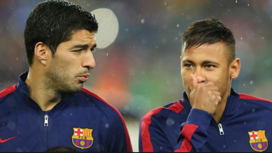 Suárez y Neymar continúan con su guerra de bromas. (Foto: Fox Sports)