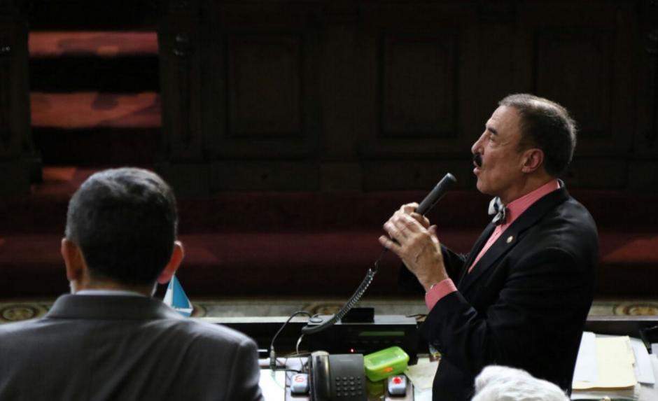 Fernando Linares Beltranena fue el diputado que más se opuso a las reformas en el hemiciclo. (Foto: Alejandro Balán/Soy502)