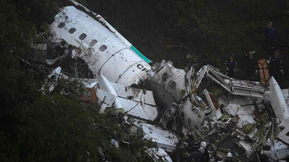 Imagen de los restos del avión. (Foto: AFP)