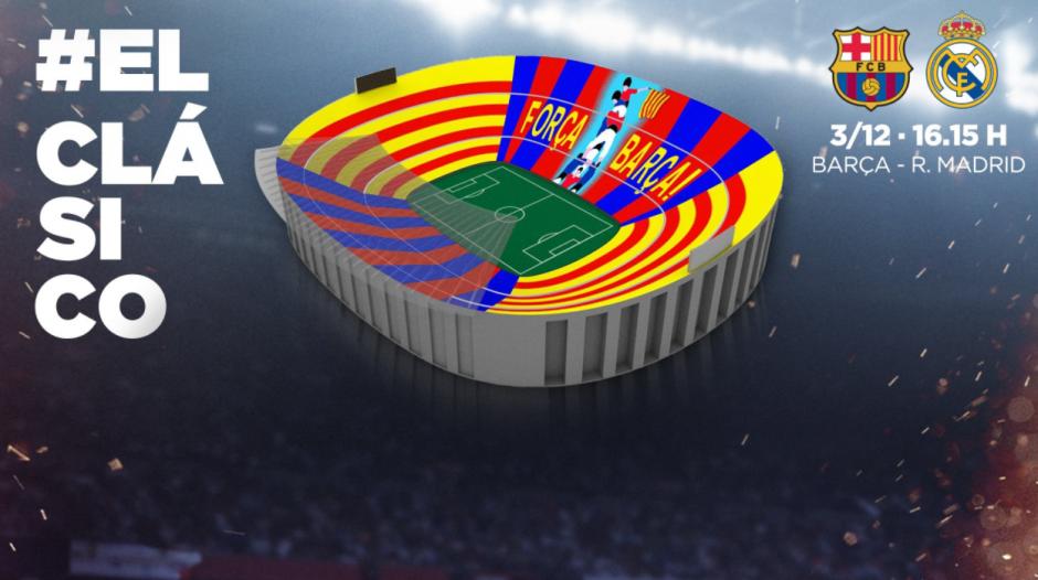 El Barcelona saldrá al campo bajo un mosaico en movimiento. (Foto: FCB)