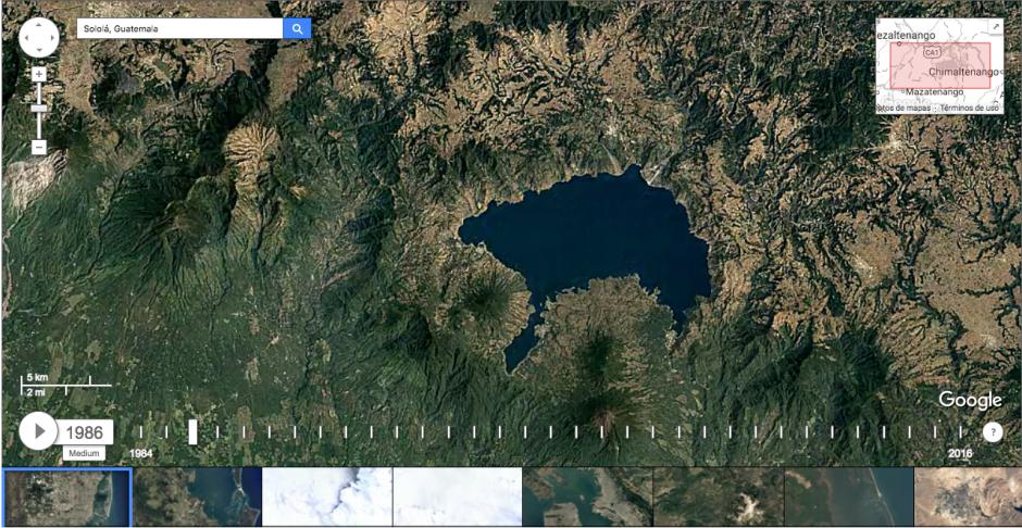 Sololá es otro de los departamentos que ha sufrido cambios. (Imagen: captura de Google Earth)
