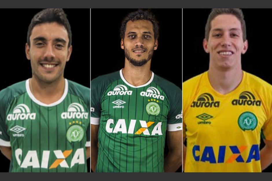 Alan Ruschel, Hélio Neto y Jackson Follmann, los supervivientes. (Fotos: Chapecoense)