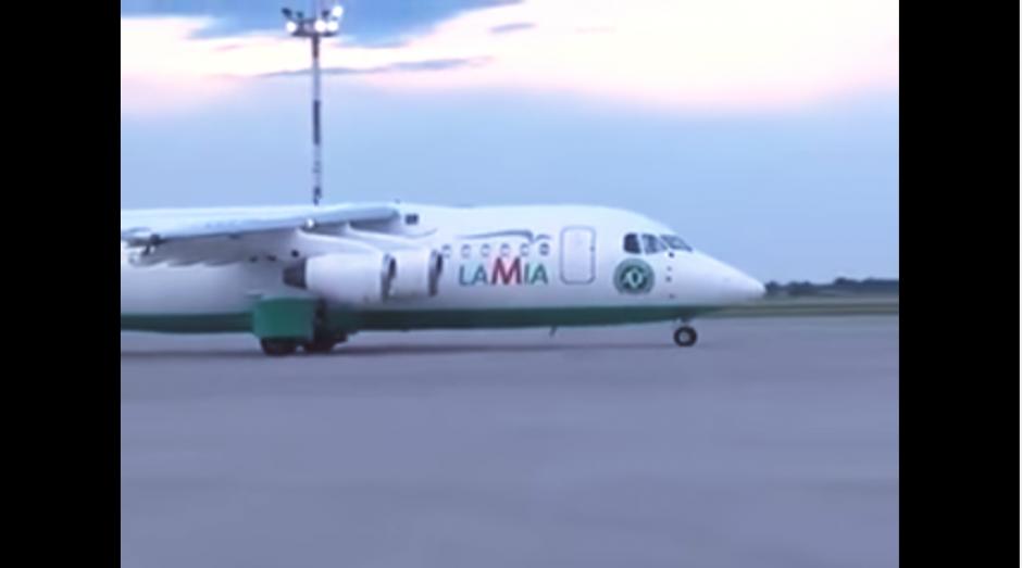 Así fue la última vez que se vio despegar el avión que llevaba al Chapecoense. (Imagen: captura de YouTube)