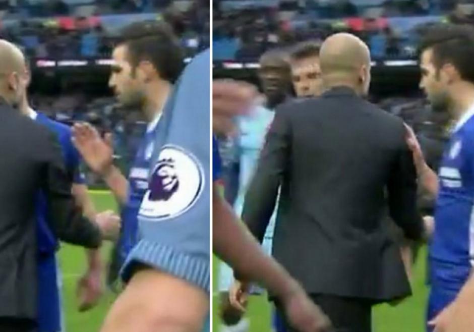 Pep y Cesc protagonizaron un bochornoso episodio en la Premier League