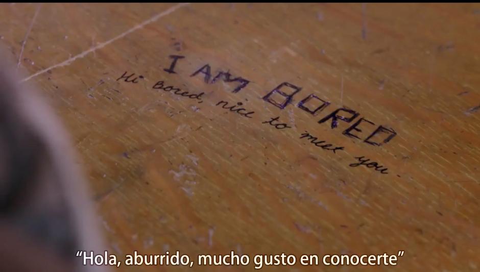 Todo inició con un mensaje en un escritorio. (Foto: Captura de pantalla)