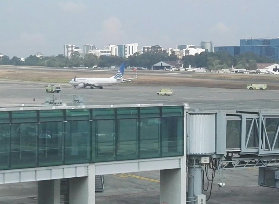 El avión presentó una emergencia por lo que tuvo que aterrizar en Guatemala. (Foto: DGAC)