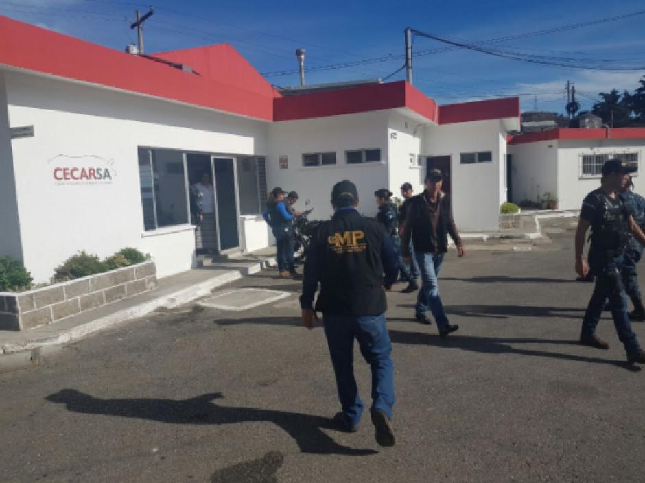 Uno de los allanamientos se realiza en un rastro ubicado en cercanías de la cárcel de Mariscal Zavala. (Foto: MP)