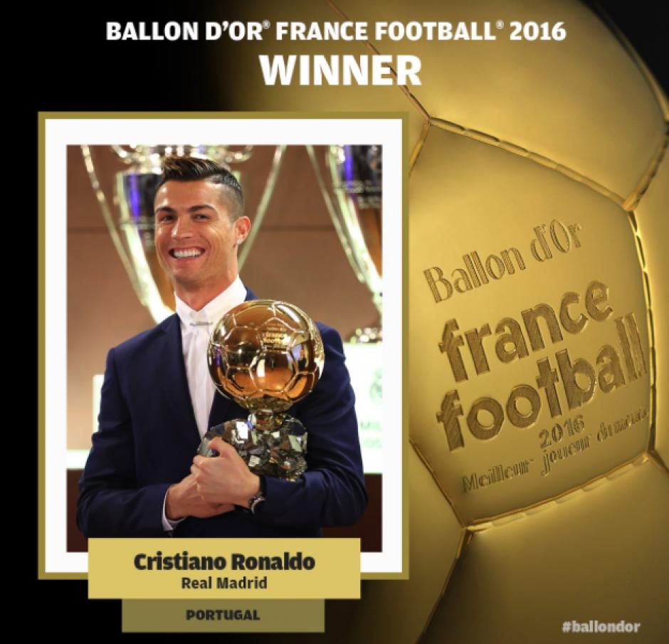 Con esta imagen lo anunció France Football. (Foto: France Football)