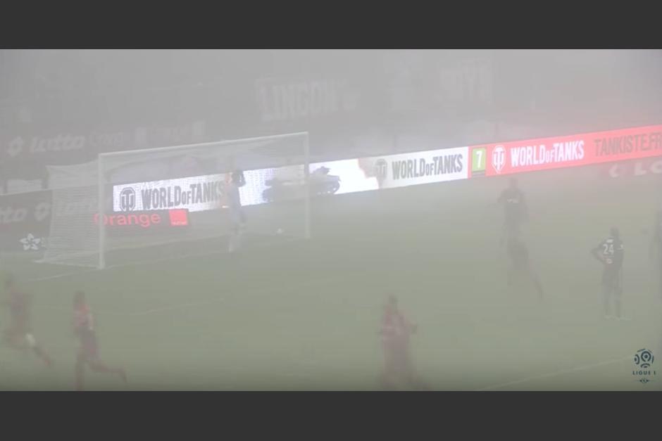 La pelota terminó dentro de la portería. (Imagen: captura de pantalla)